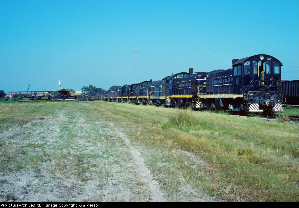 19 SCL Alcos and a Baldwin on the Dead Line