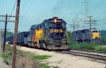 Western Maryland #7470 on the B&OCT; EL #2580 on the Parallel IHB