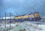 Union Pacific SD40-2 and Two DDA40Xs on Cajon