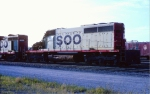 Severely Wrecked SOO SD40 #738