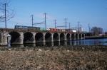Conrail E44s Crossing the Delaware