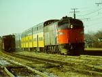 Amtrak E8A #305 w/C&NW bi-levels