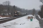 NS 8791 heads east along Snyder Rd. in Otis, IN
