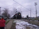 1225 leads the North Pole Express over Chipman Street