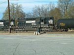 NS 3322 working the yard