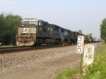 NS 2617 NS Chicago Line [ notice old and new mile marker]
