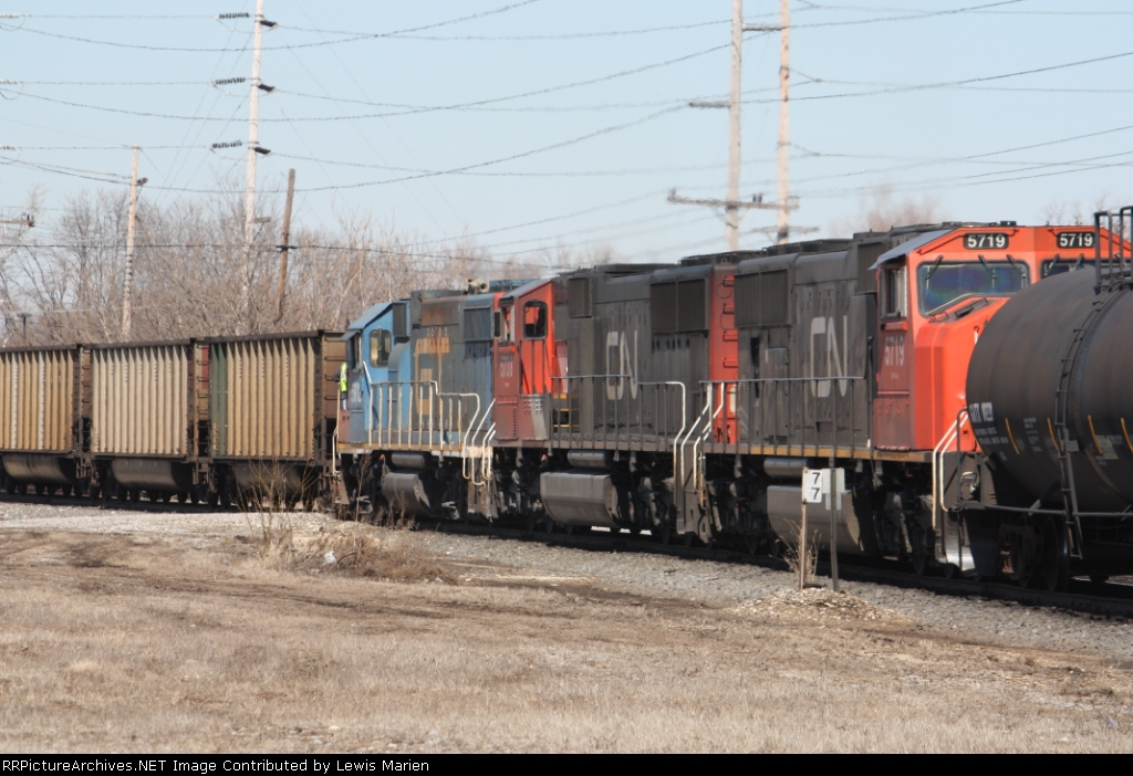 CN 5719, CN 5738, and GTW 5812