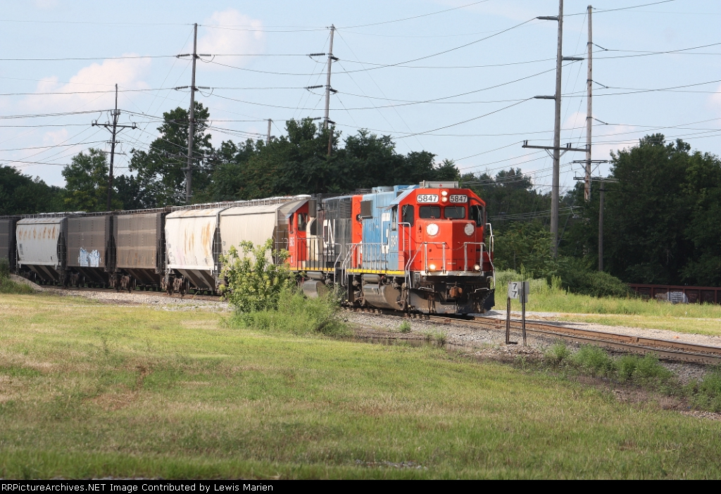 GTW 5847, southbound CN train L55091-25