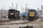 NS 8704 and CSX 6028