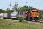 BNSF 9392, inbound CN train L56491-28 backing into the CN yard