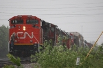 CN 8888, CN train A43171-30 about to drop off their train at Pershing Road