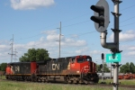 CN 2631, southbound CN extra light engines