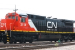 CN 2114 in the CN Decatur Yard