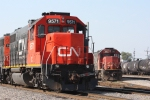 IC 9571 and IC 1012 in the CN Decatur Yard