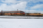 Nice Hitch UP 6866 KCS 4058 & BNSF 5604