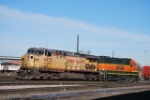 BNSF 2216 Spots UP 6873 On A Side Track