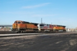 BNSF 5521 On Point Moving Into The Yard