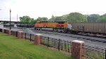 BNSF 5645 serves as DPU on unit coal train