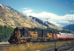 Rio Grande SD40T-2's 5413/5347,POINT HELPERS ON ''BILL GATES PASSENGER SPECIAL'',IRONTON,UTAH SEPTEMBER 26,1998.