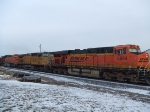 BNSF 5864 and UP 6299