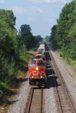 CN 396 with EJ&E SD38