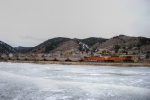 Southbound BNSF Loaded Coal Train DPU Locomotives