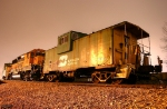 BNSF Locomotives and BN Cabooses