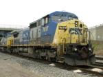 CSXT GE C40-8W's 7817 & 7670