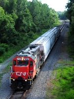 CN geep brings loads north on return trip to yard