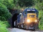 Geep pulls CSX local south through tunnel
