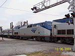Amtrak engine 11 on northbound train 20