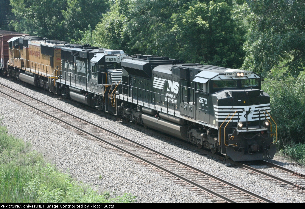 NS 2670 NS 4638 and UP 4062