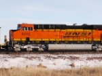 BNSF 6350 close up as she rolls north as rear DPU unit on a loaded coal train.