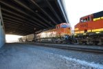 BNSF 6419 and BNSF 5642 sits under the I-70 overpass waiting to roll south/east with a loaded coal train.