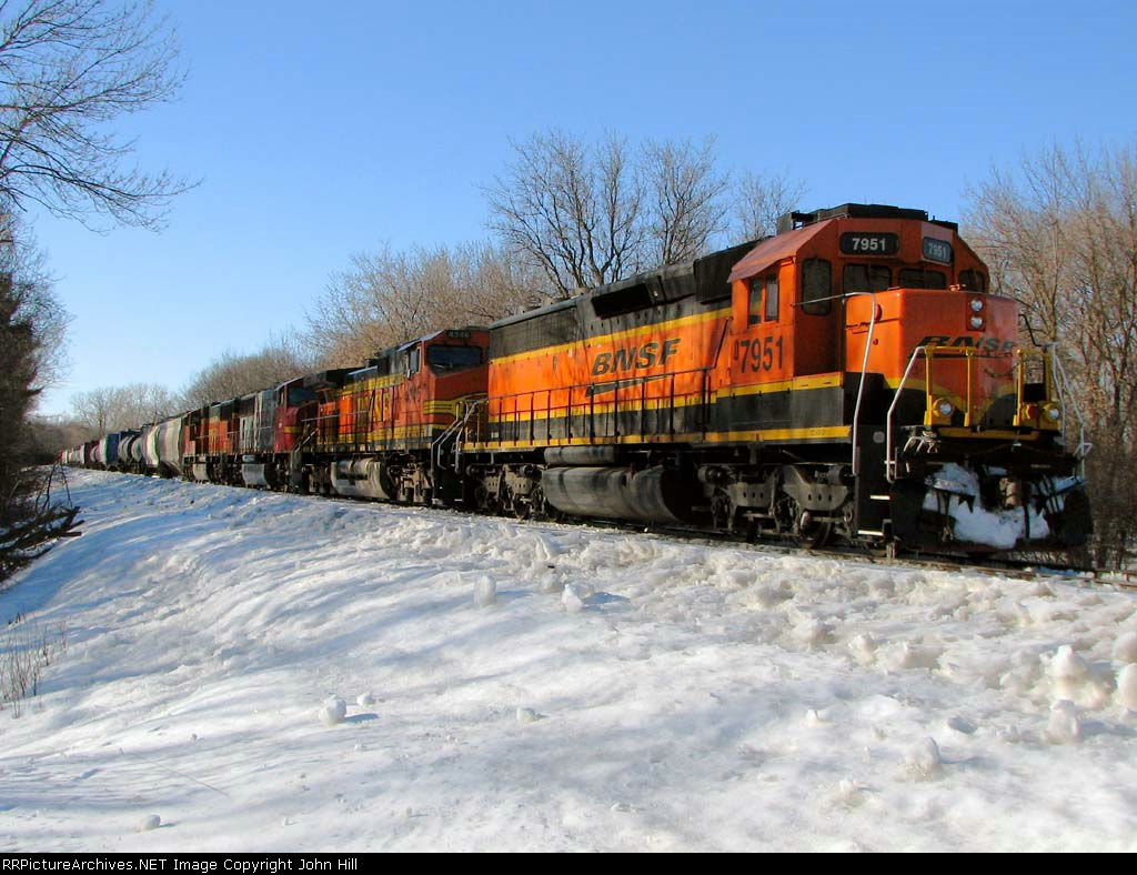 100226007 Eastbound BNSF Manifest Waits In siding