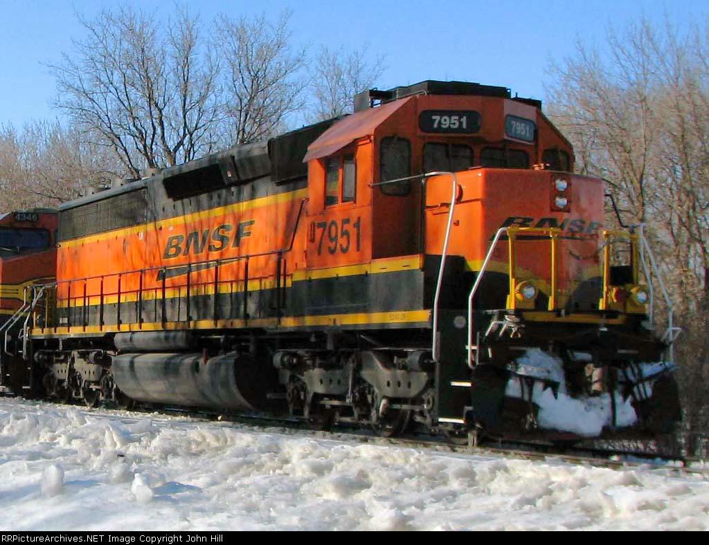 100226008 Eastbound BNSF Manifest Waits In siding