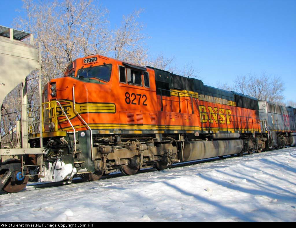 100226013 Eastbound BNSF Manifest Waits In siding