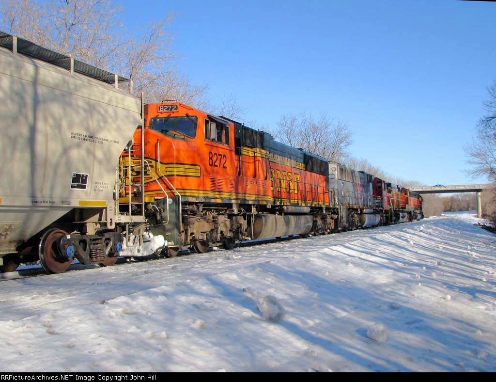 100226014 Eastbound BNSF Manifest Waits In siding