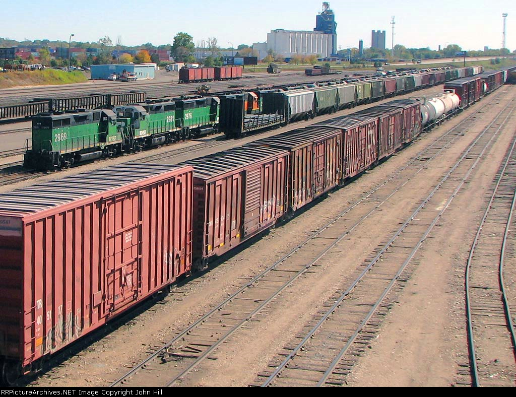 "101004043 Stored GP39V (And Other) Locos At BNSF Northtown ""T"" Yard"