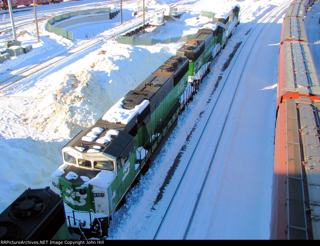 101228024 BNSF SD60Ms Stored At Northtown 44th Ave