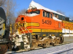 100129003 Eastbound BNSF freight waits in Wayzata Siding