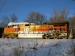 100129004 Eastbound BNSF freight waits in Wayzata Siding