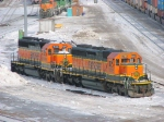 100130001 BNSF 1946 & 8016 stored in the Northtown Boondocks