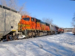 100226014 Eastbound BNSF Manifest Waits In siding