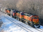 100226017 Eastbound BNSF Manifest Waits In siding
