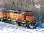 100226019 Eastbound BNSF Manifest Waits In siding