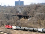 100325025 Westbound CP Shakopee Job Passing Through UP Western Ave Yard