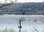100325121 UP ex-CGW South St. Paul Swing Bridge During Spring Flood