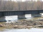 100404009 Ex-C&NW Carver Bridge Over Minnesota River During Spring Flood