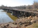 100404012 Ex-C&NW Carver Bridge Over Minnesota River During Spring Flood